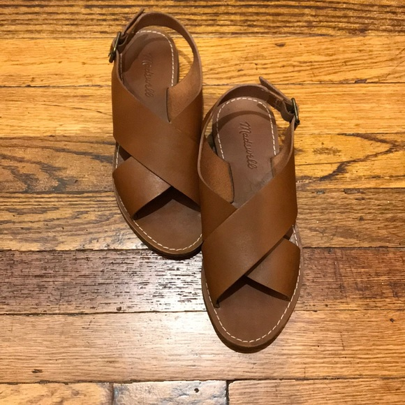 0e008516dc3d Madewell Shoes | The Boardwalk Crossover Sandal English Saddle ...